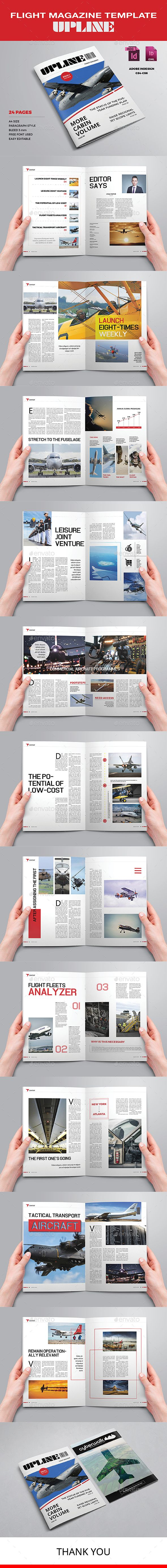 Flight Magazine Template - Upline