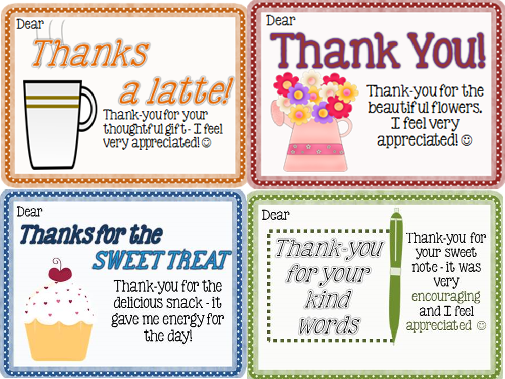 Thank You Notes From Teachers To Students Mrs Jenn