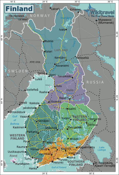 Map of Finland Looking into the origin on my last name my