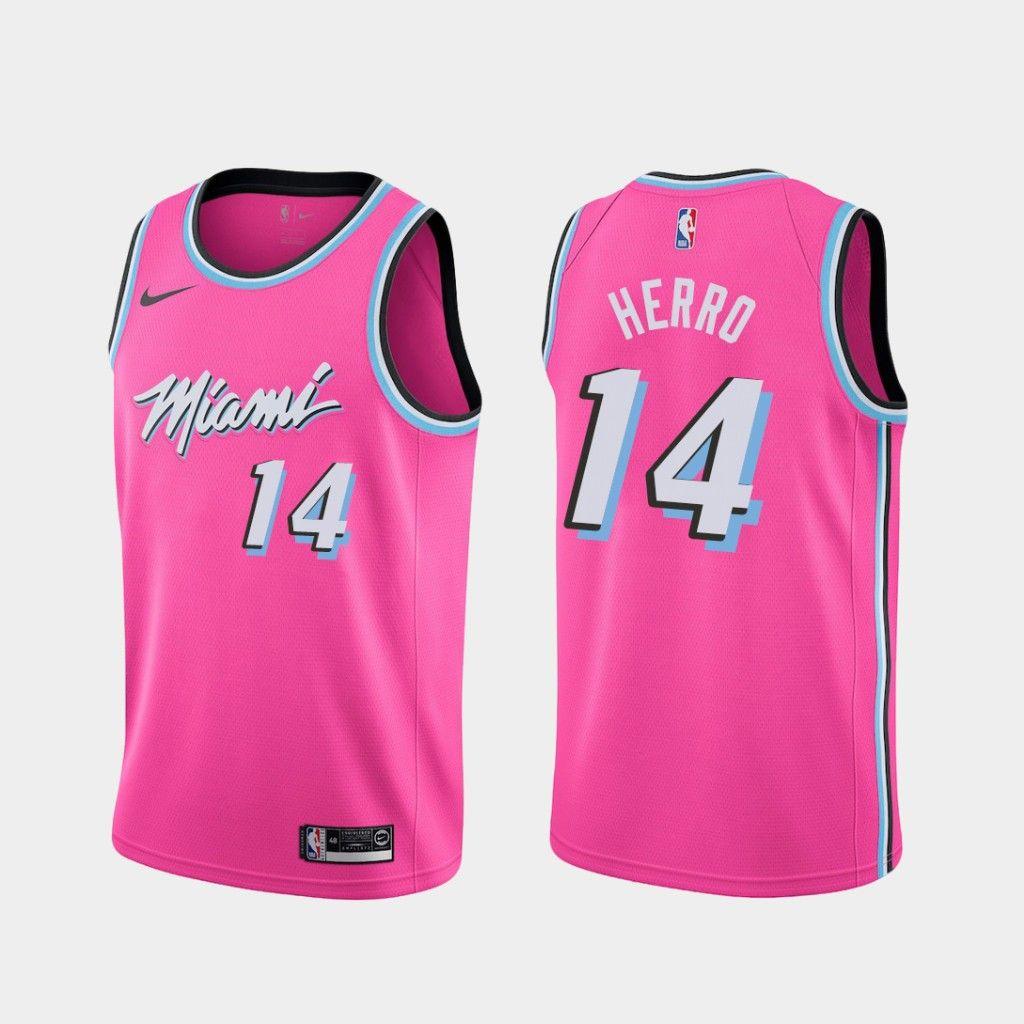 Youth Kids Miami Heat 14 Tyler Herro 2018 19 Earned Jersey Pink In 2020 Miami Heat Girls Winter Coats Jersey