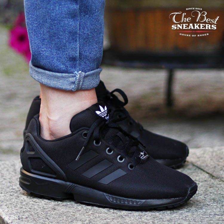 adidas originals zx flux k black womens trainers all black s82695 nz