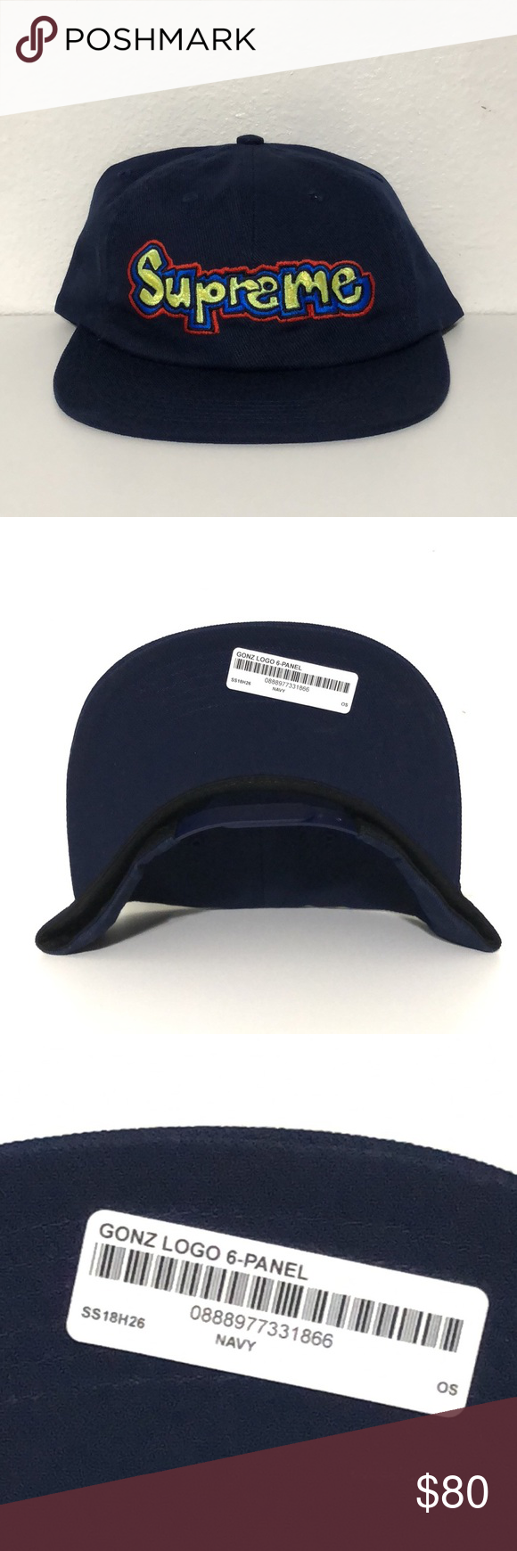 22b52445 Supreme Gonz Hat Supreme Gonz Hat SS18 Navy blue DS Supreme Accessories Hats