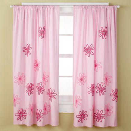 Curtains Girl Girls Curtains Girls Pink Flower Curtain Panels