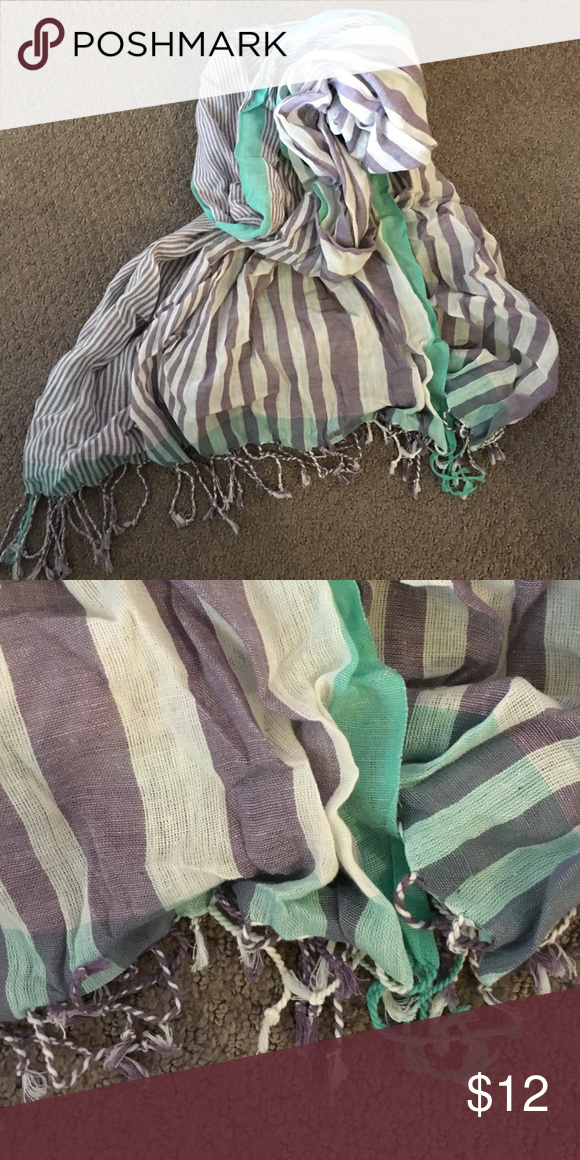 Purple, white and turquoise scarf. Purple, white and turquoise scarf. Accessories Scarves & Wraps