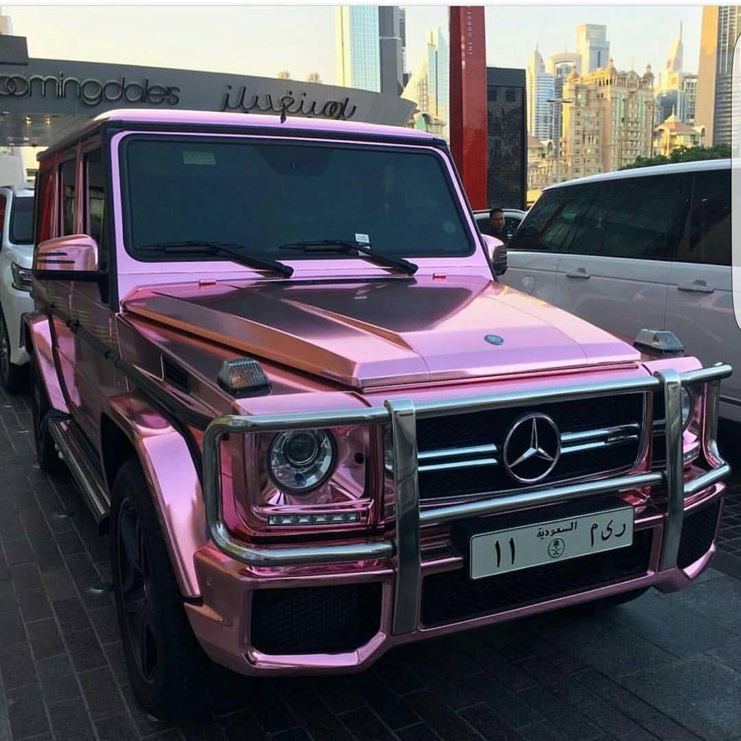 Rose Gold G Saudi Mercedes G63 Amg Saudi Dubai Coches De Lujo Coches De Ensueno Auto De Lujo