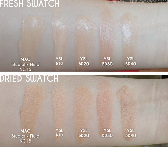 Ysl Touche Eclat Foundation Swatches Foundation Swatches Estee Lauder Foundation Shades Ysl Foundation