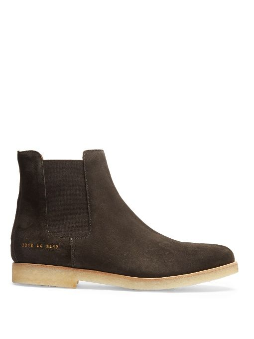 meet e4c61 d3f74 COMMON PROJECTS Suede chelsea boots.  commonprojects  shoes  boots