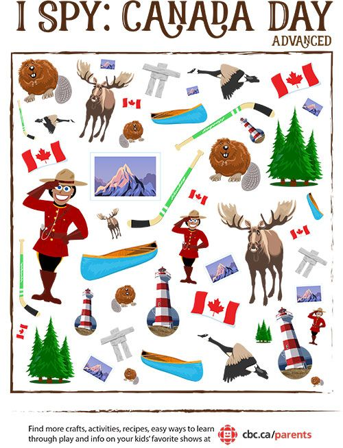 Canada Day I Spy Game Canada Day Crafts Canada Day Canada For Kids
