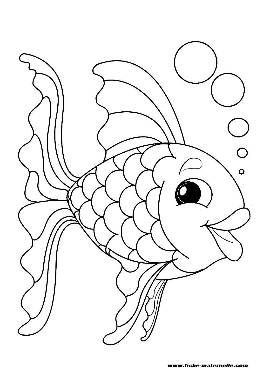 Coloriage : un poisson | Coloriage poisson, Coloriage gratuit