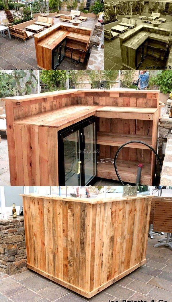 Skid Pallet Wood Reshape Projects Diy Outdoors Pinterest Skid