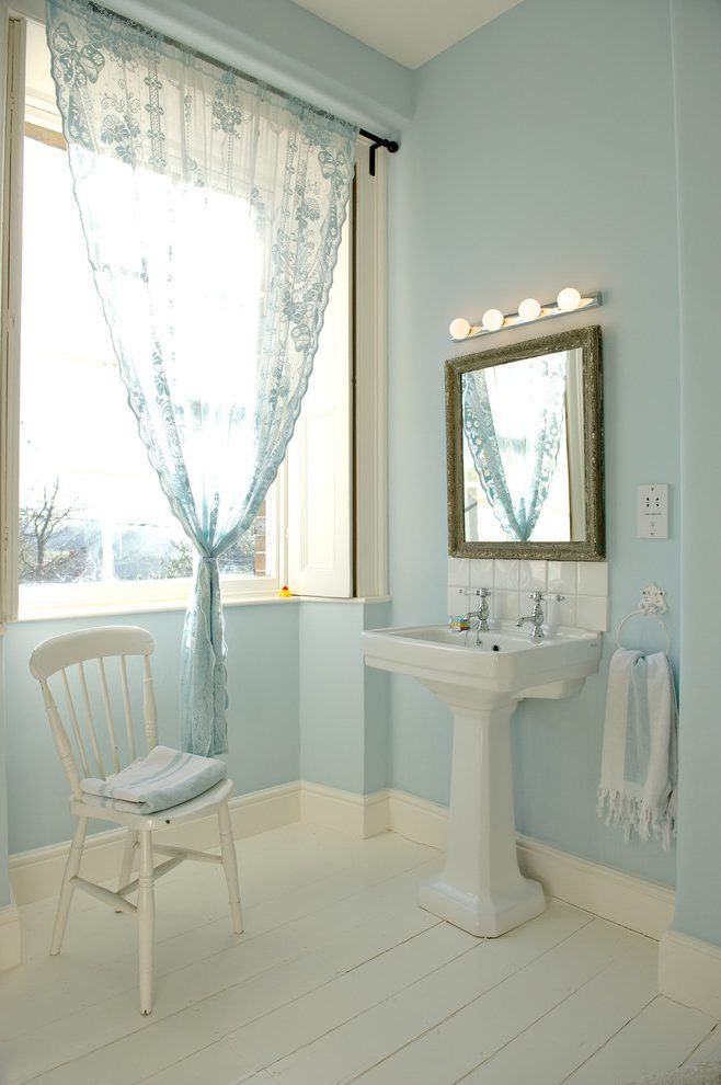 Dorset Paint Color Tiffany Blue Bathroom Eclectic With Pale Walls