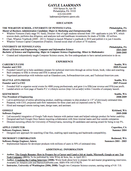 The anatomy of the perfect resume | Home and Finance | Best ...