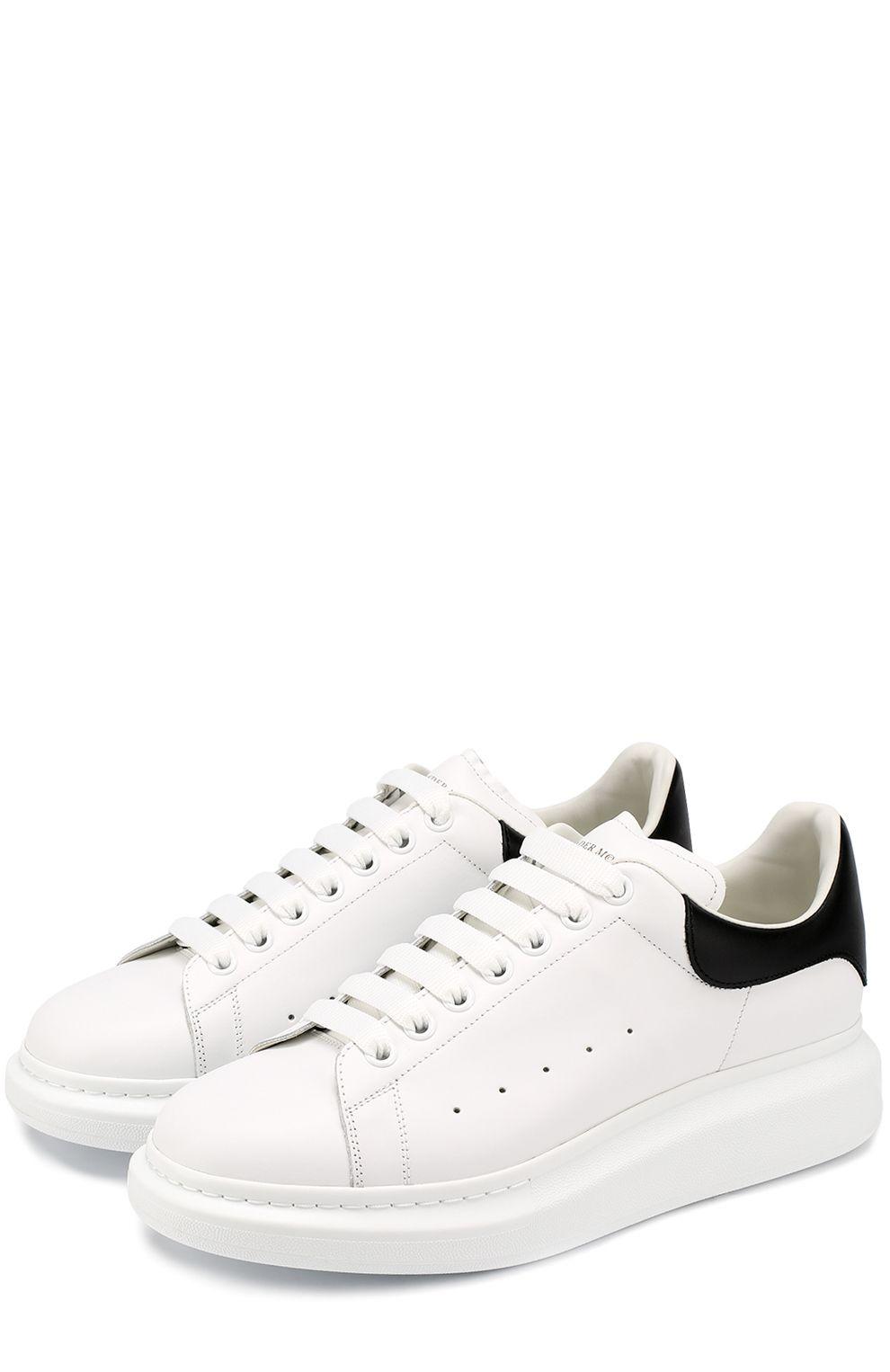 Мужские белые кожаные кеды на толстой подошве Alexander McQueen, арт.  441631 WHGP5 купить 8e82c0486c4
