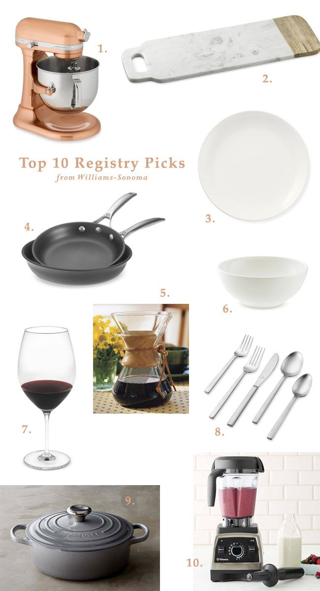Our Top 10 Wedding Registry Items From Williams Sonoma Top Wedding Registry Items Williams Sonoma Wedding Registry Wedding Registry