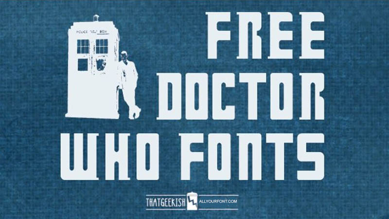 Doctor Who Font Free Download Free fonts download