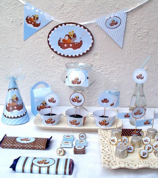 Noahs Ark Baby Shower Or Birthday Custom By Blackleafdesign, $30.00