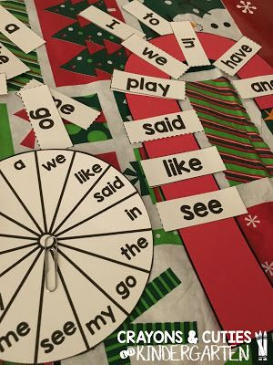 Holiday Centers And Candy Cane Word Work Free Editable Template