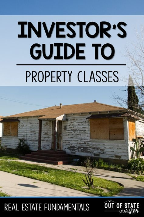 The Investor\u0027s Guide to Property Classes Pinterest Investors - real estate investment spreadsheet