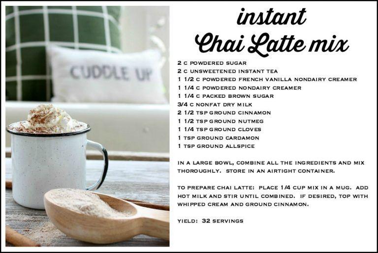 Instant Chai Latte Recipe Chai Latte Recipe Latte Recipe Chai Latte
