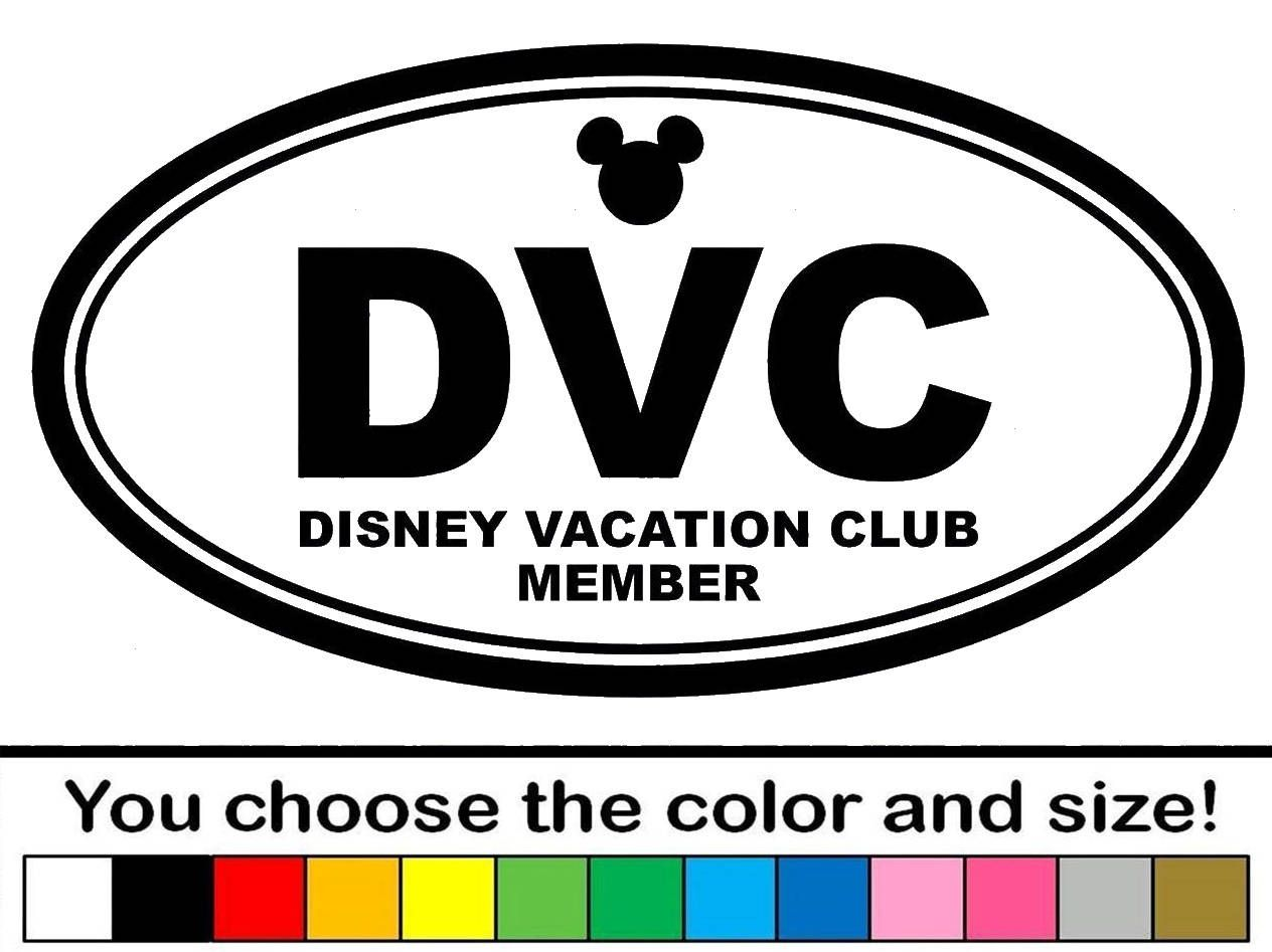 Disney DVC Vacation Club Member Vinyl Decal Sticker Car