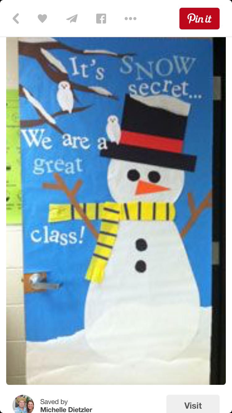 Snow Winter Themed Cl Door Decoration