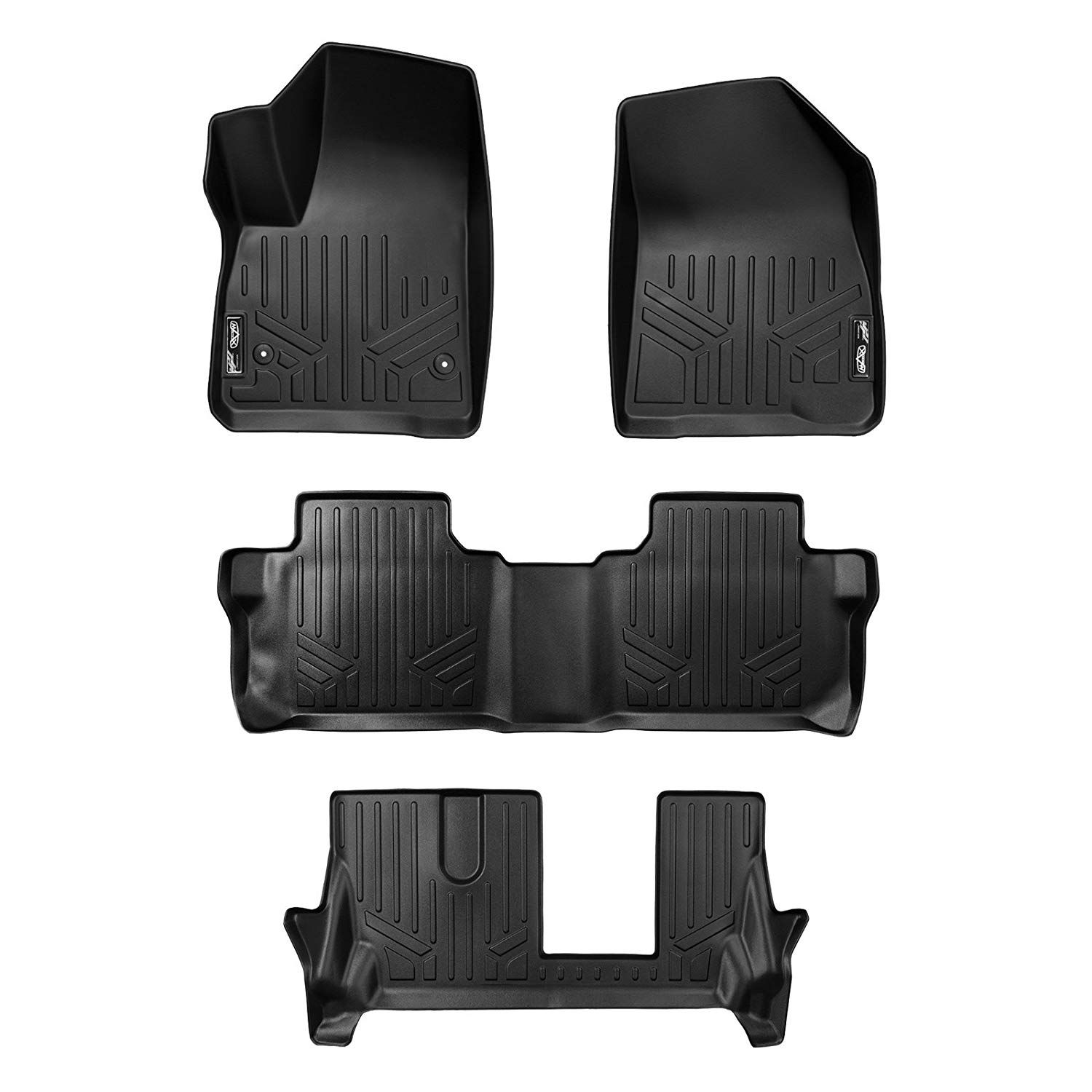 Smartliner Floor Mats 3 Row Liner Set For 2017 2018 Gmc Acadia
