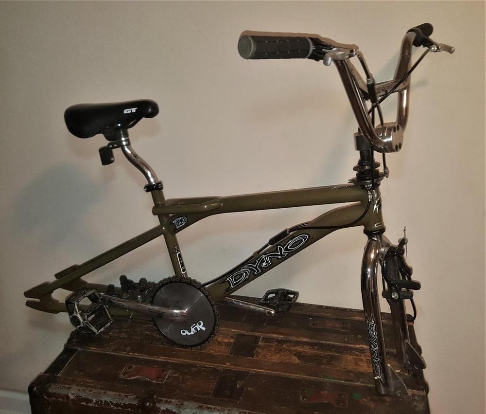 Vintage 90s DYNO GT Sugar Brown Compe BMX Bike Frame Fork