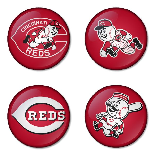 "Cincinnati Reds MLB 1.75"" Badges Pinbacks, Mirror, Magnet, Bottle Opener Keychain http://www.amazon.com/gp/product/B00K451LMM"