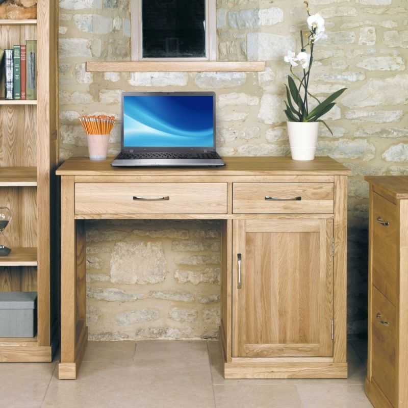 baumhaus mobel oak single pedestal computer desk oak computerdesk assembled brand new contemporary single pedestal computer desk workstation crafted