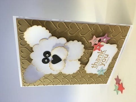 How To Make A White Fluffy Puppy Dog Card Youtube Birthday Cards
