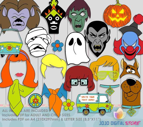 editable scooby doo halloween photo booth by jojodigitalstore - Scooby Doo Halloween Decorations