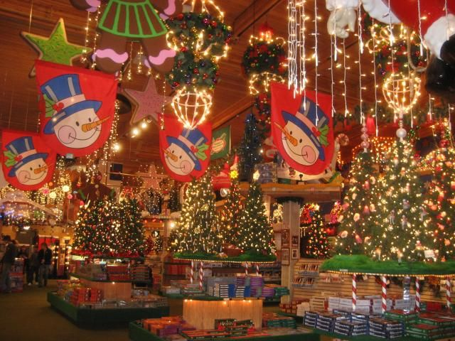 the largest christmas store and its open all year i love this place will be buying a lot of ornaments when im visiting - Largest Christmas Store