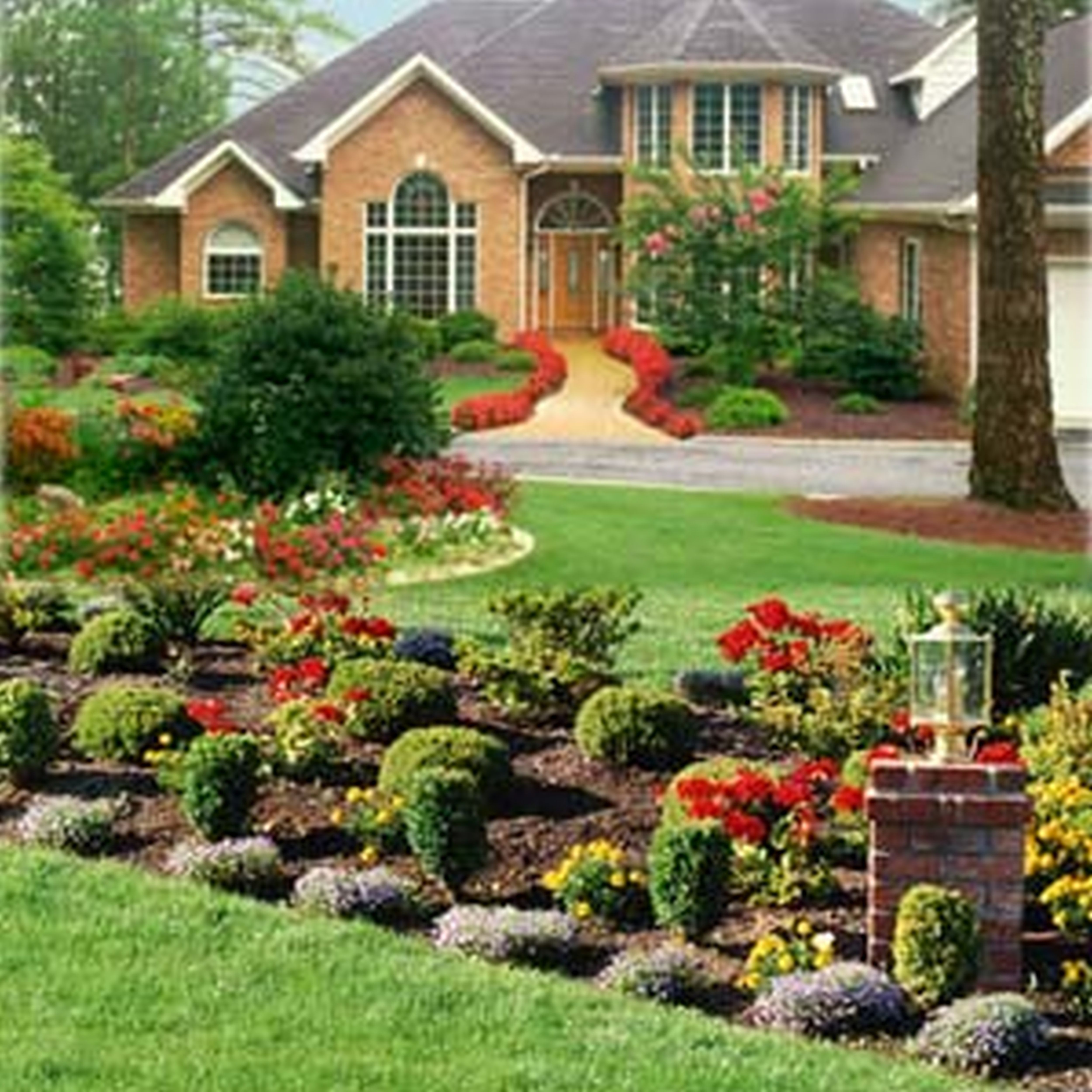 Front House Landscape Design Ideas: Front Yard Landscaping Ideas Wisconsin Blandscapingb Bb