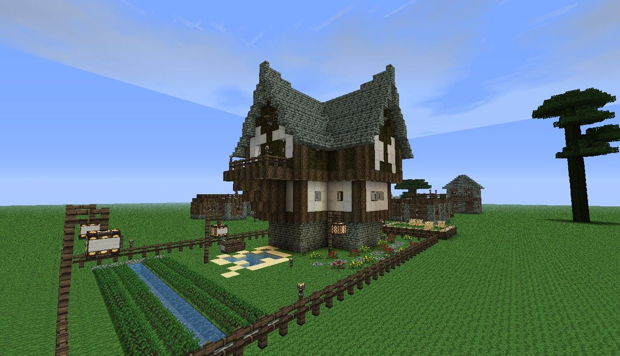 Minecraft Building Ideas For A Town U build the village! Description