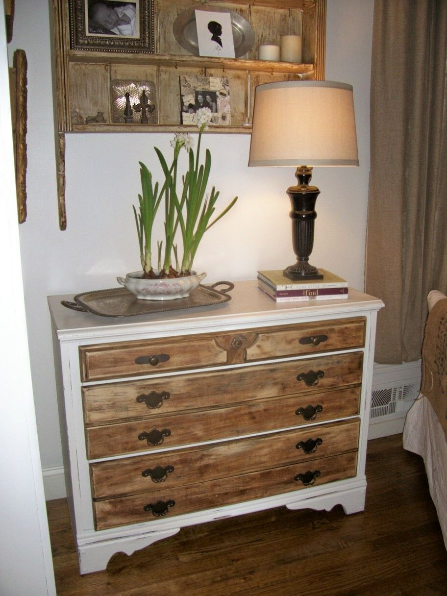 Love The Wood Drawers With The Painted Dresser Diy Furniture Redo Small Dresser Wood Dresser