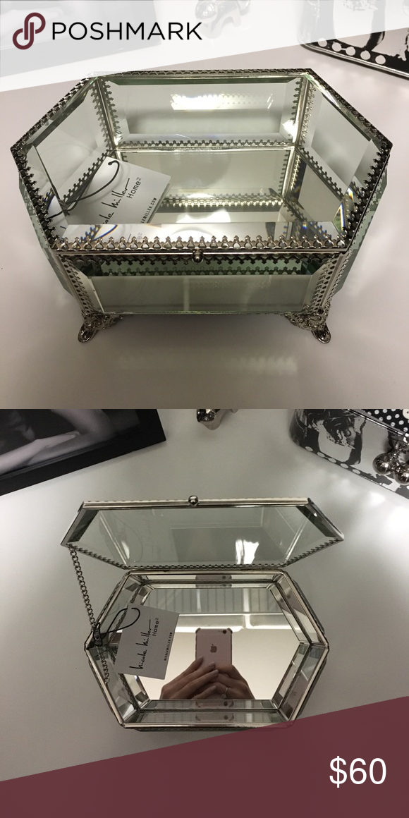 Nicole Miller home mirrored jewelry box Mirrored jewellery box