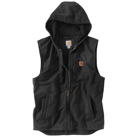 carhartt mens knoxville hooded vest 864344 gander on men s insulated coveralls with hood id=85980