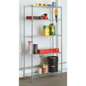 Utility Shelves Walmart Captivating $5988 5Tier Wire Rackwalmart No 001187606Easy To Assembly Design Decoration