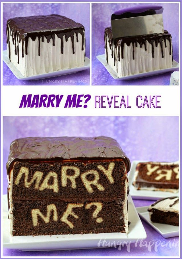 Marry Me Reveal Cake Reveal The Big Question Unique Cake And
