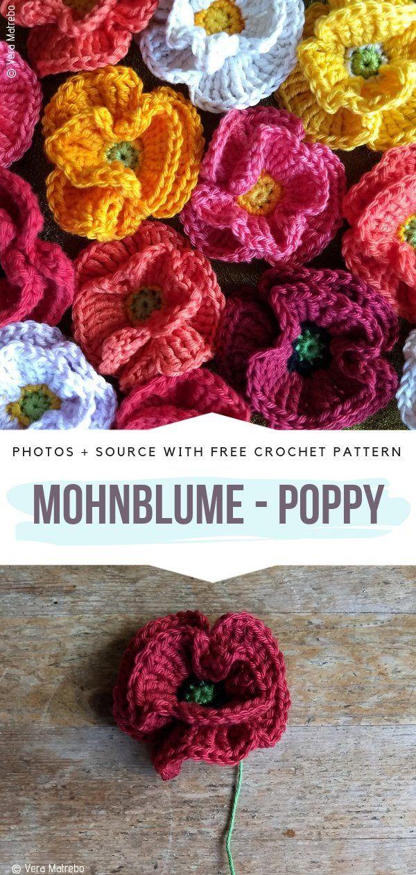 Beautiful Crochet Flowers Free Patterns #crochetflowers