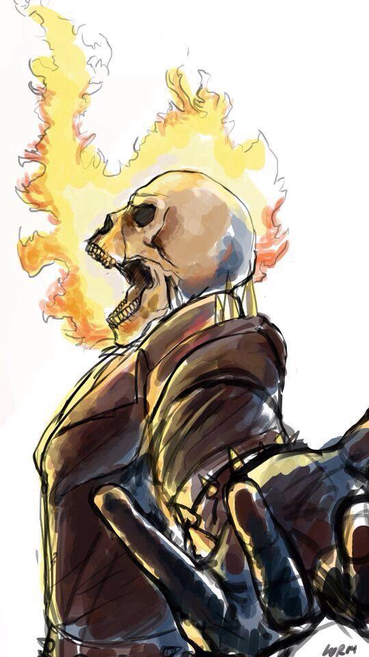 Ghost Rider (Unknown Artist) | Ghost Rider | Pinterest | Cómics ...