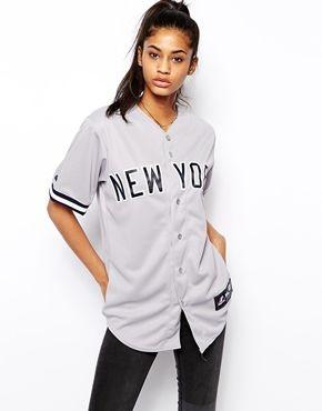 c7f525bab2 Enlarge Majestic New York Yankees Baseball Jersey Top Baseball Jersey  Outfit