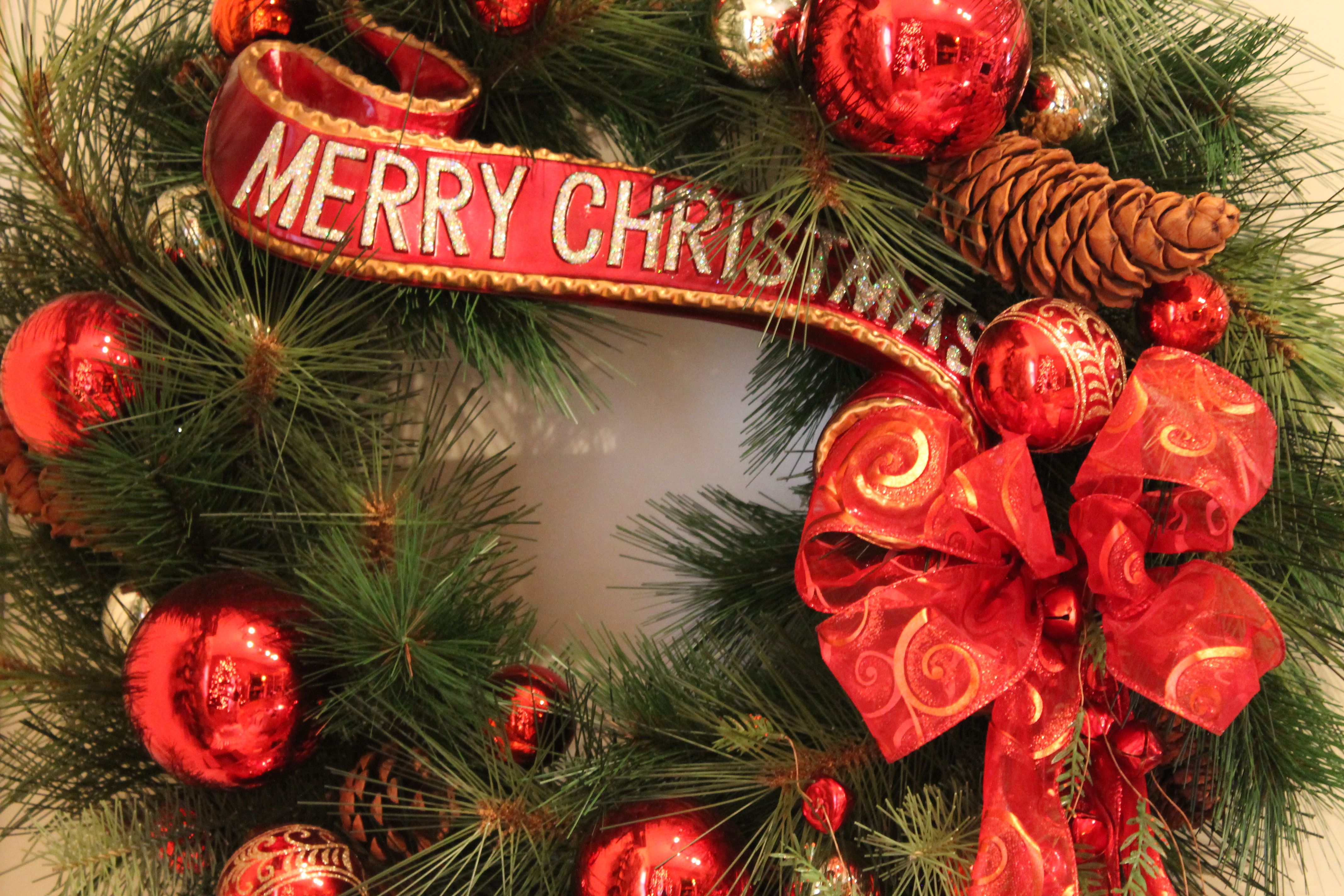 Nothing says Christmas like this Merry Christmas banner. Place in a ...