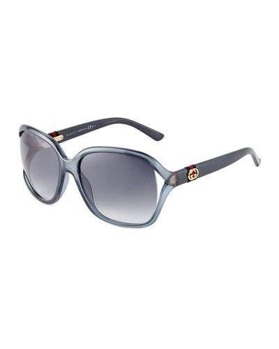 41717fc1afb Gucci Open-Temple Logo-Web Sunglasses