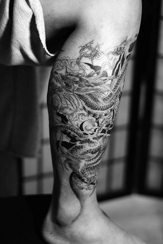 Tattoo Design Ideas For Men Dragon Tattoo Design On Leg Tattoos