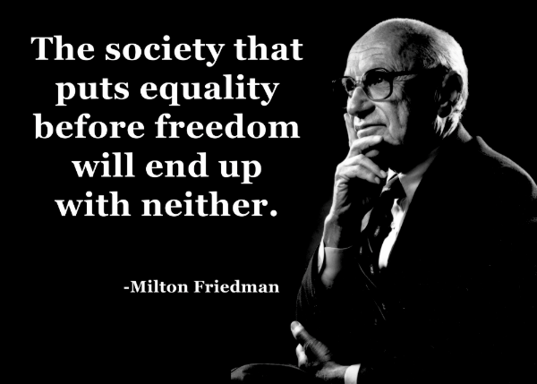 Milton Friedman Equality Freedom Quote Poster Zazzle Com In 2021 Freedom Quotes Alpha Male Quotes Quote Posters