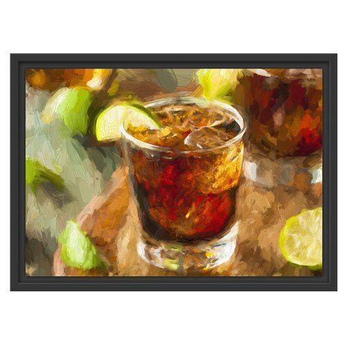 Refreshing Cuba Libre Framed Photographic Art Print East Urban Home Size: 40cm H x 55cm W #cubalibre