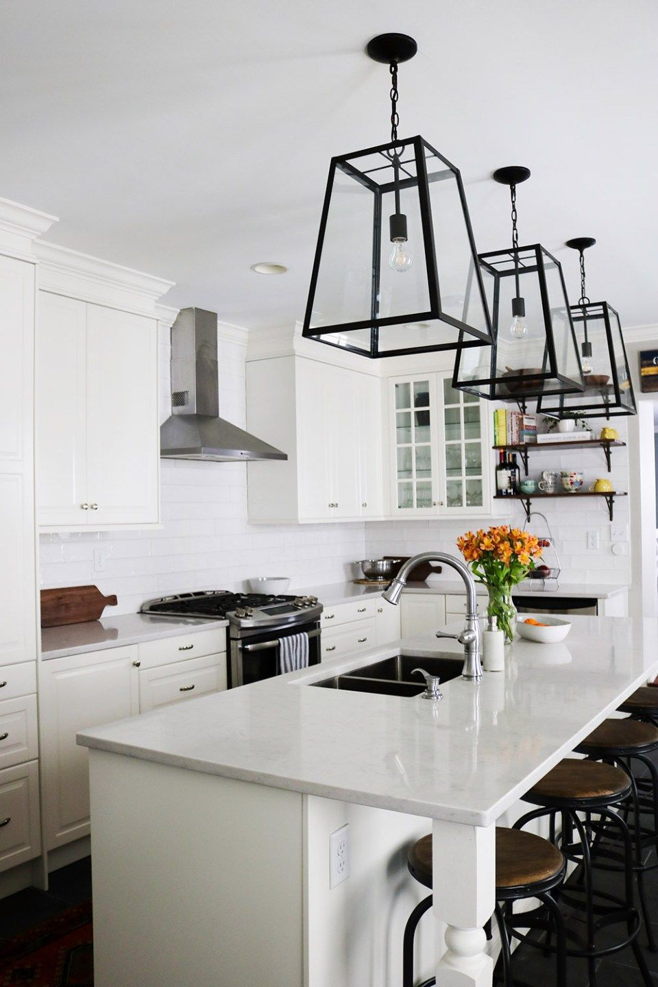 Baltimore Traditional White IKEA Kitchen Remodel | Black slate floor ...