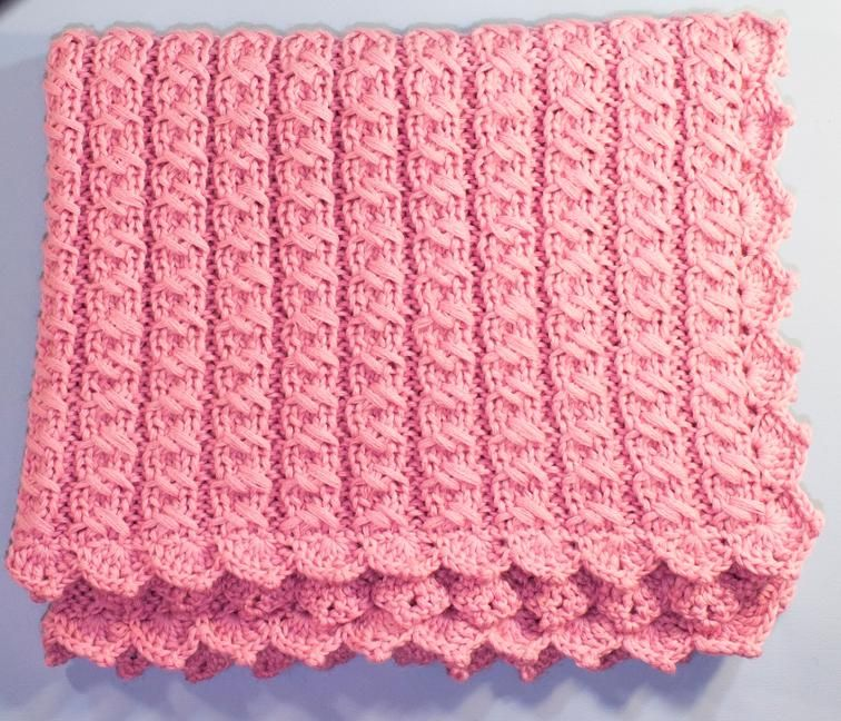 Baby Blanket With Cross Stitch Cable Knit Patterns Cable And Knit