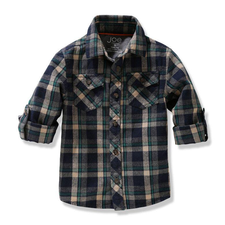 Toddler Boys' Plaid Shirt